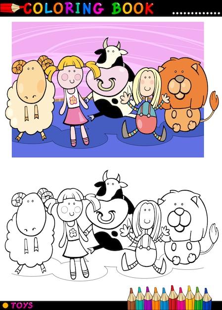 Juguetes Lindos De Dibujos Animados Para Colorear Descargar