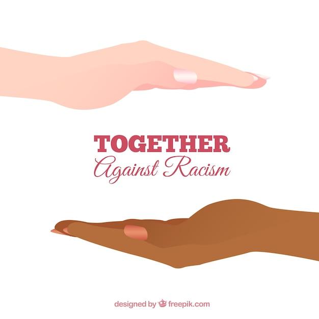 Juntos contra el racismo Vector Gratis