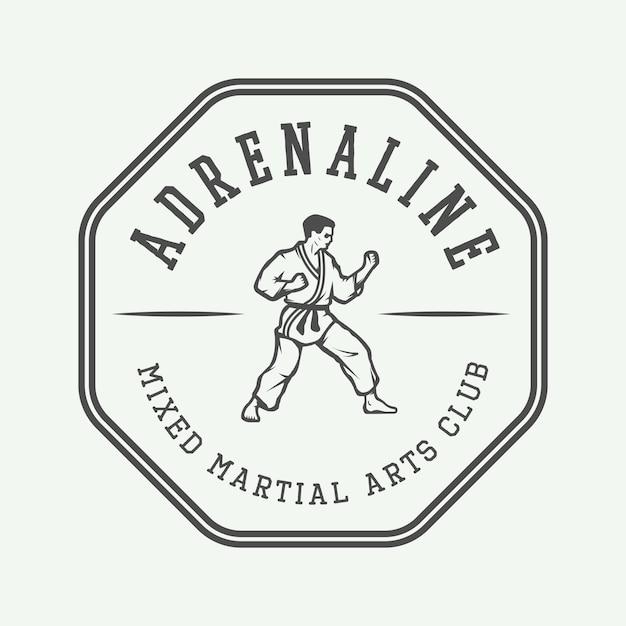 Karate o logotipo de artes marciales. Vector Premium