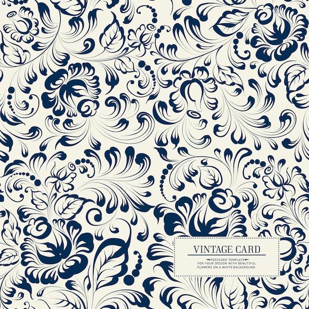Khohloma estilo floral de patrones sin fisuras. Vector Premium