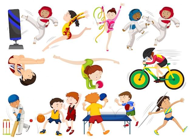 Deportes Diferentes Deportes: La Gente Hace Diferentes Tipos De Deportes