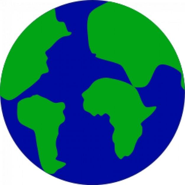 la tierra con los continentes separados Vector Gratis