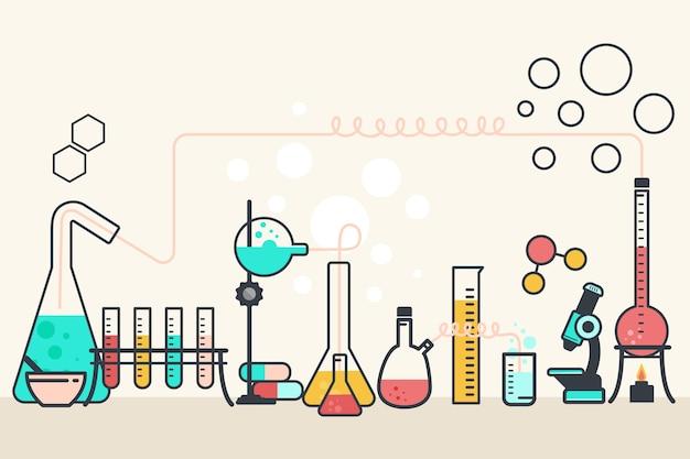 Laboratorio de ciencias de diseño plano vector gratuito