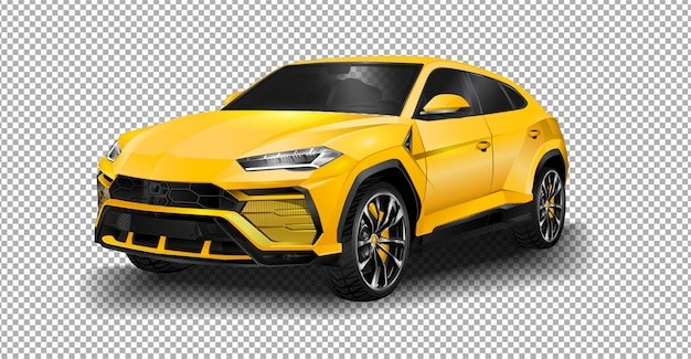 Lamborghini urus super suv de conducción en los suburbios de ginebra. Vector Premium