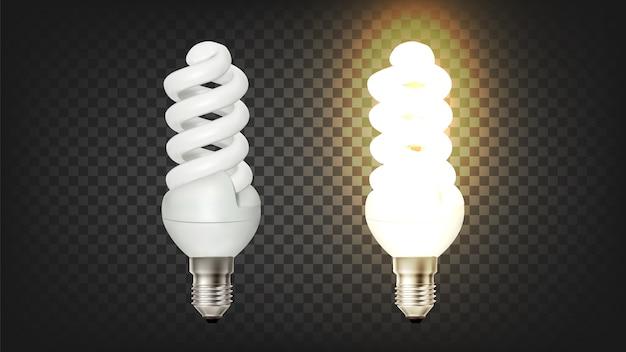 Lámpara fluorescente compacta espiral brillante cfl Vector Premium