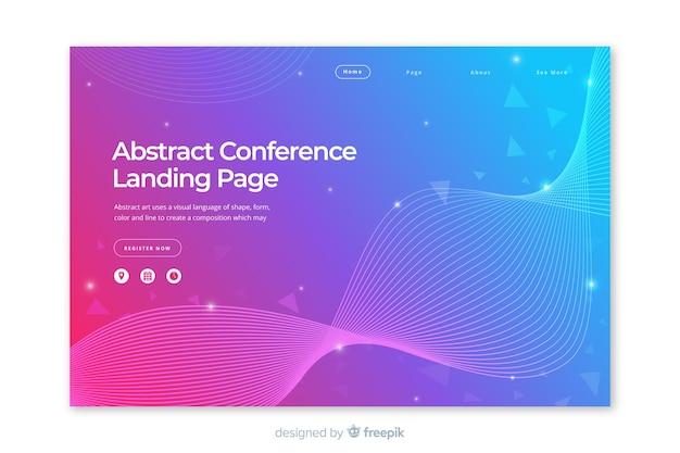 Landing page abstracta conferencia de negocios vector gratuito