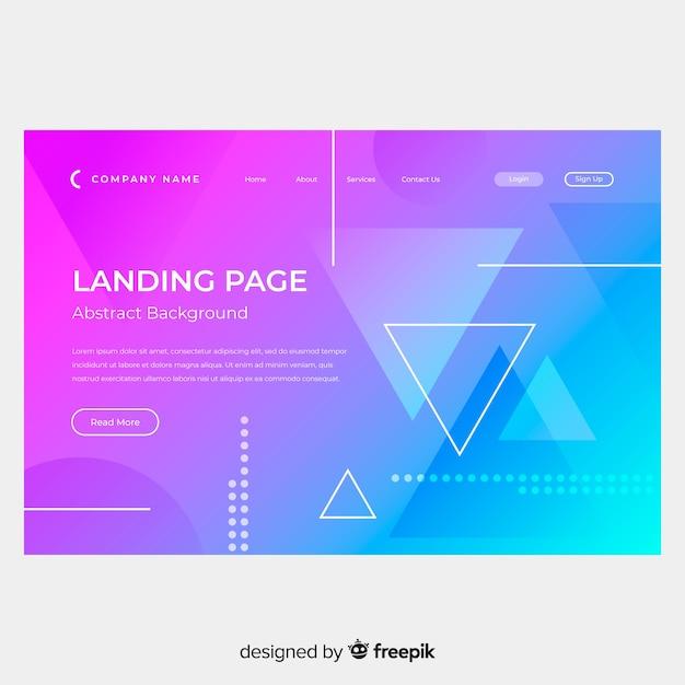 Landing page abstracta vector gratuito