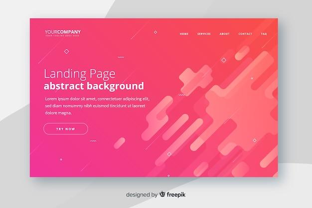 Landing page abstracto vector gratuito