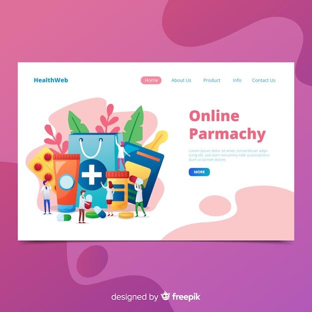 Landing page colorida farmacia vector gratuito