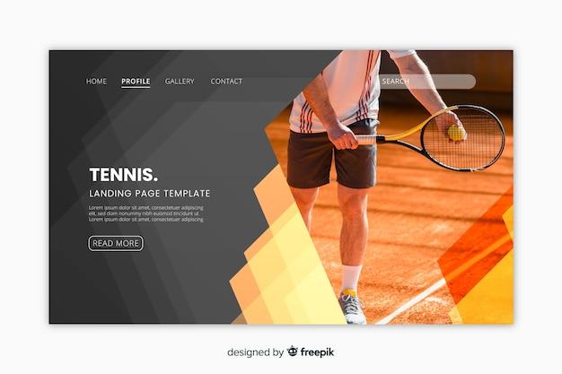 Landing page deporte con foto vector gratuito