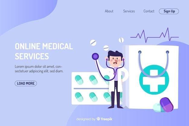 Landing page farmaceútica vector gratuito