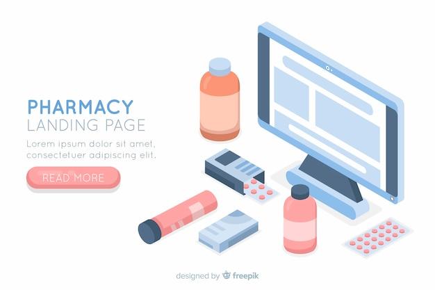 Landing page de farmacia online vector gratuito