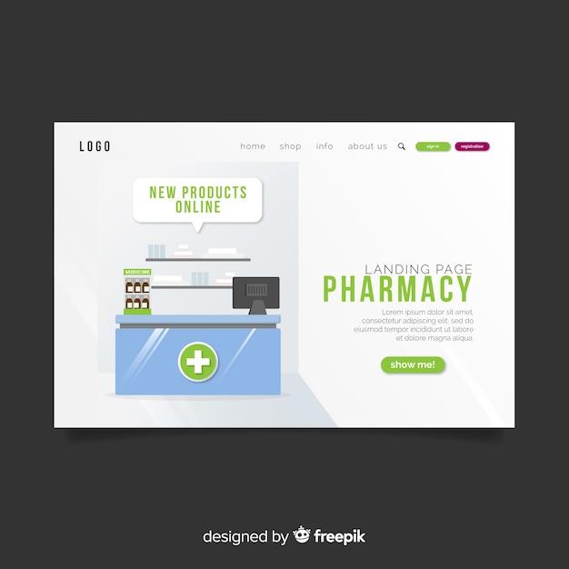 Landing page de farmacia vector gratuito