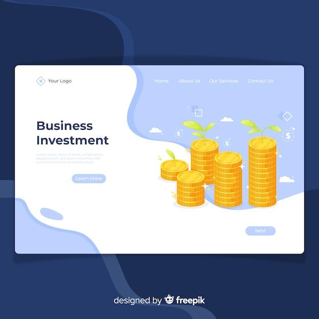 Landing page de finanzas vector gratuito