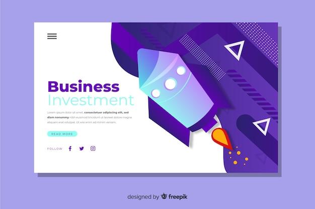 Landing page moderna de negocios vector gratuito
