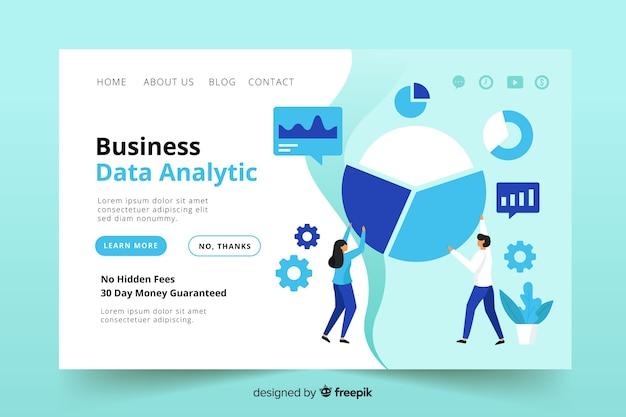 Landing page de negocios vector gratuito