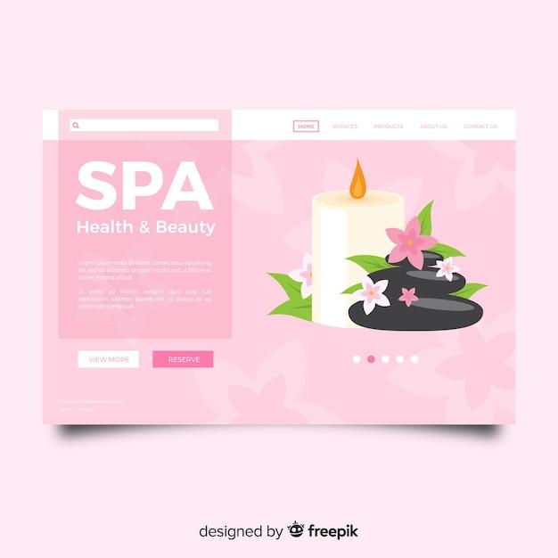 Landing page de spa vector gratuito