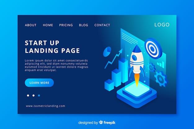 Landing page de startup vector gratuito