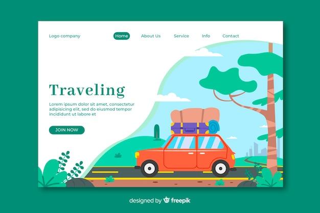 Landing page de viaje vector gratuito