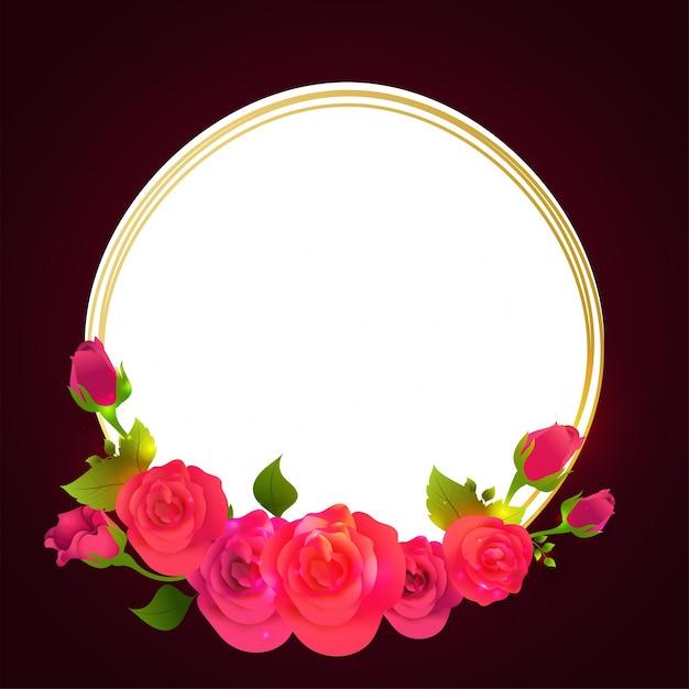 Las acuarelas florecen el marco adornado en el fondo blanco y de ...