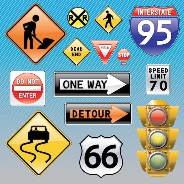 las señales de tráfico Vector Gratis
