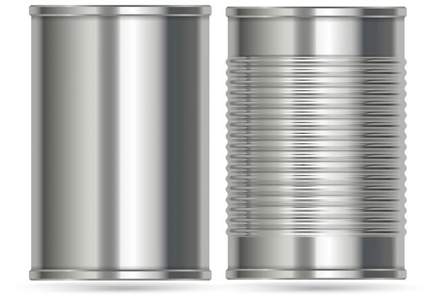 Latas De Aluminio En Dos Diseños Diferentes