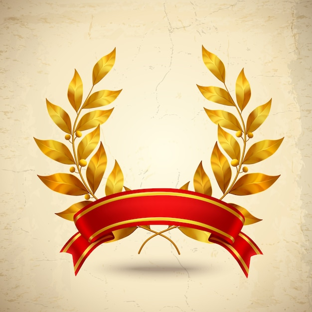 Laurel Wreath Realistic Vector Gratis