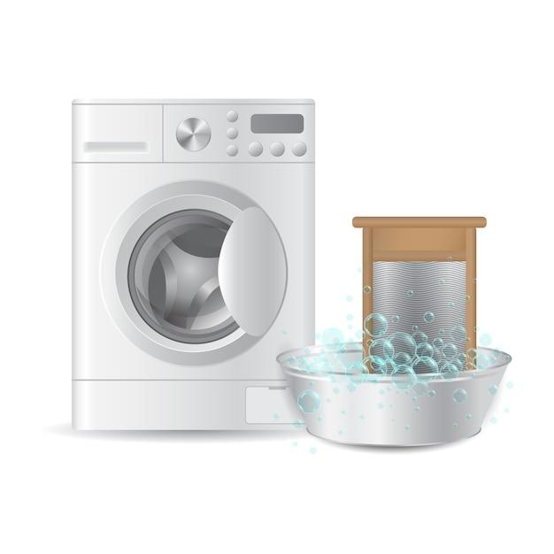 Lavadora Con Lavabo.Lavadora Automatica Y Lavamanos Acanalado En Lavabo Metalico
