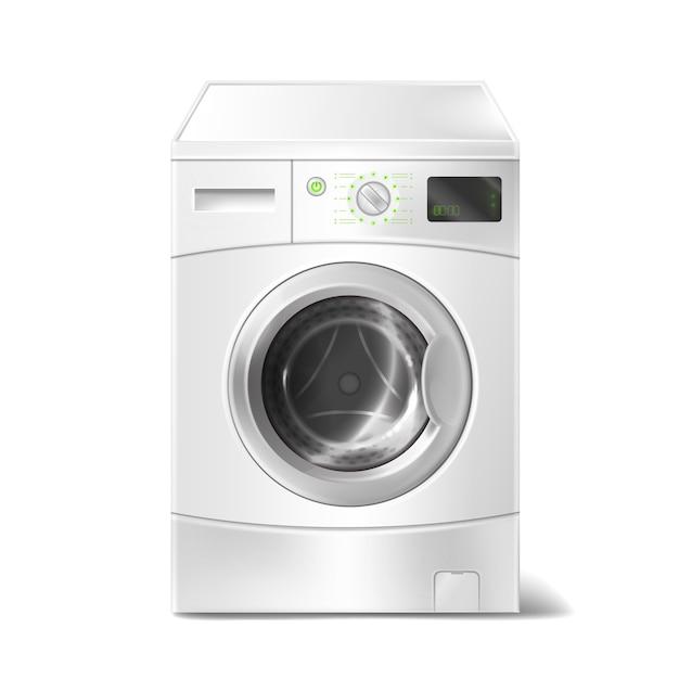 Lavadora con pantalla inteligente sobre fondo blanco - Lavadora fondo reducido ...