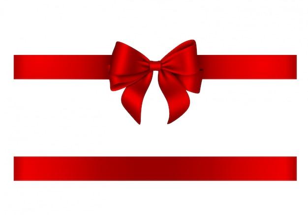 Lazo rojo y cinta Vector Premium