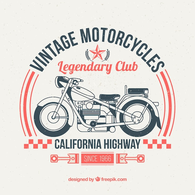 Legendario club de motos vector gratuito
