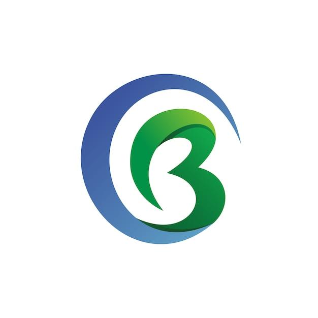 Letra c y b logo vector Vector Premium