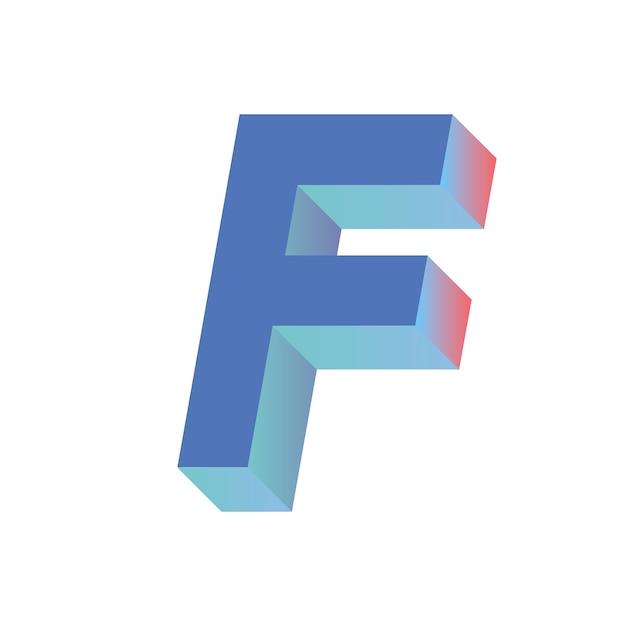 Letra f vector gratuito