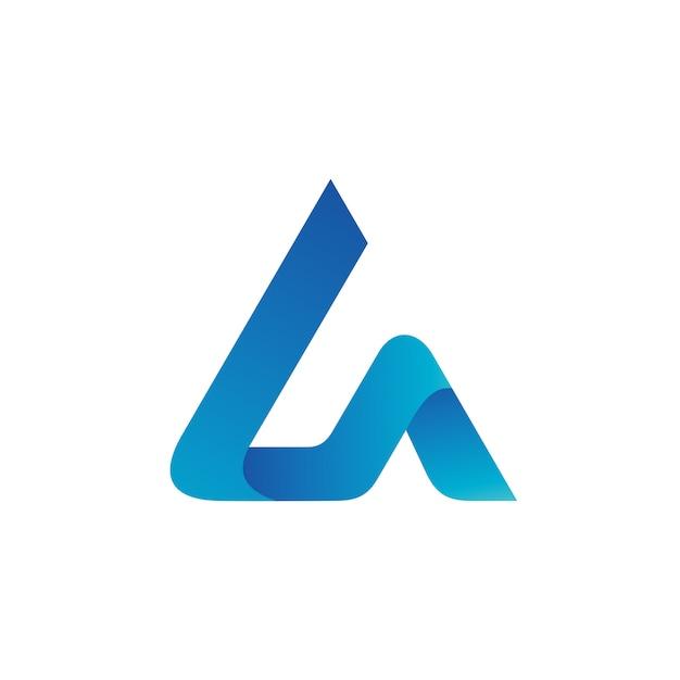 Letra l y a logo vector Vector Premium