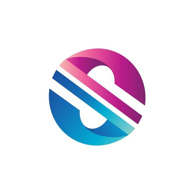 Letra s círculo logo vector Vector Premium