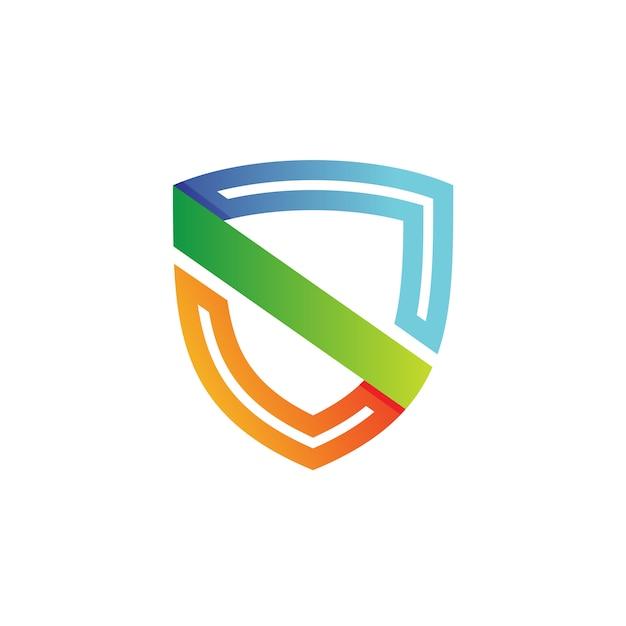 Letra s escudo logo vector Vector Premium