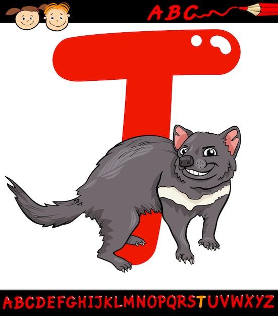 Letra T Para Dibujos Animados De Demonio De Tasmania Descargar
