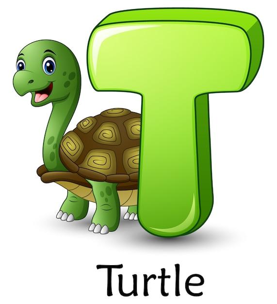 La Letra T Es Para El Alfabeto De Dibujos Animados De