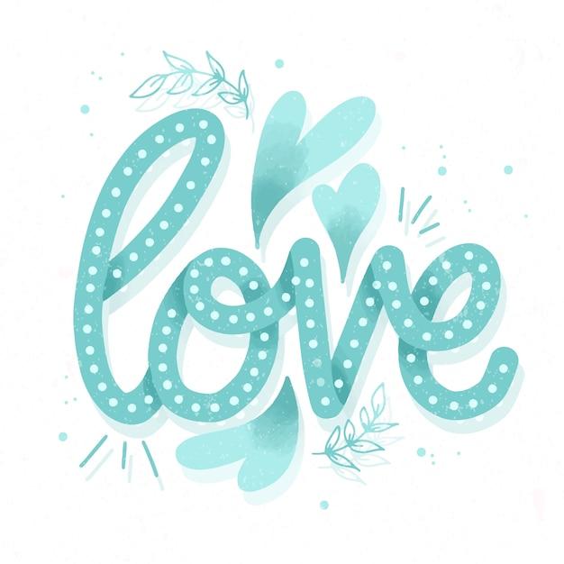 Letras de amor en estilo vintage vector gratuito