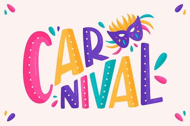Letras de carnaval sobre fondo blanco. vector gratuito