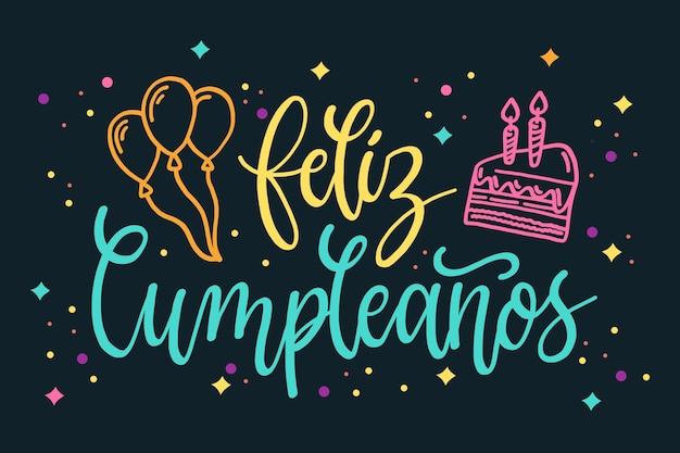 Letras de concepto de feliz cumpleaños Vector Premium