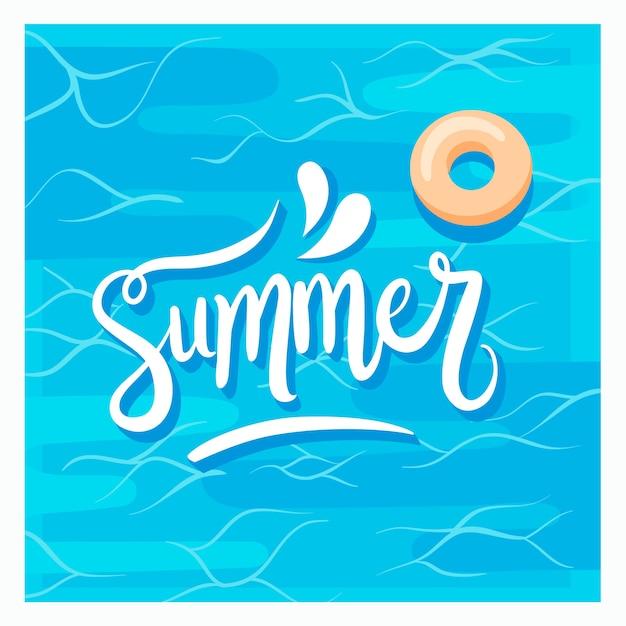Letras creativas de verano vector gratuito