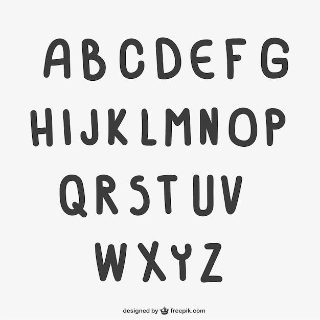Letras de estilo infantil descargar vectores gratis for Estilos de letras