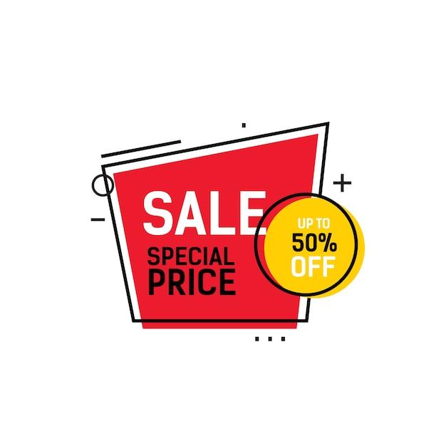 Letras de precio especial de venta en marco | Descargar Vectores Premium