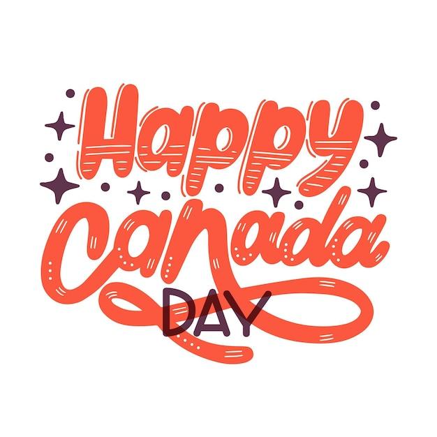 Letras del día de canadá vector gratuito