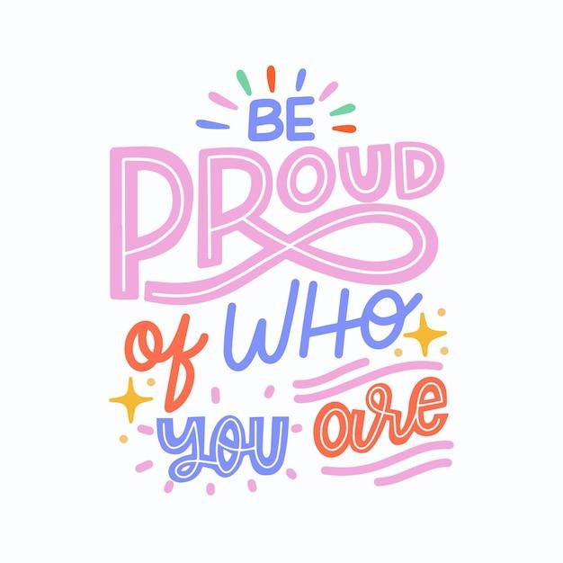 Letras del día del orgullo vector gratuito