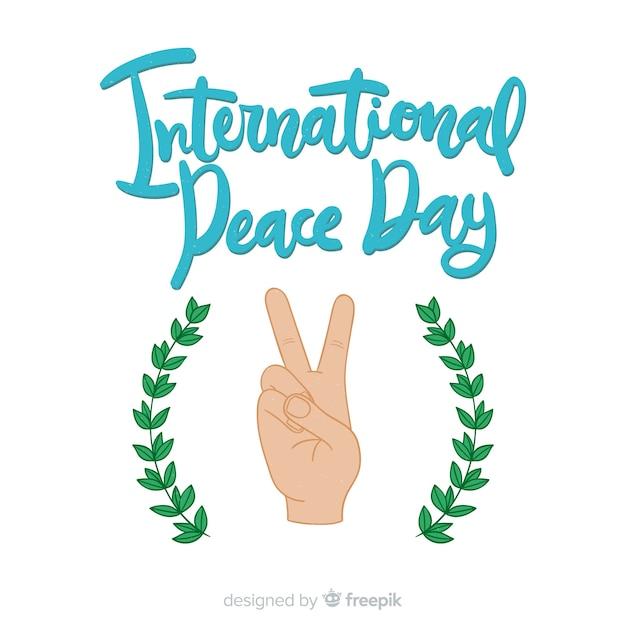Letras del día de paz vector gratuito