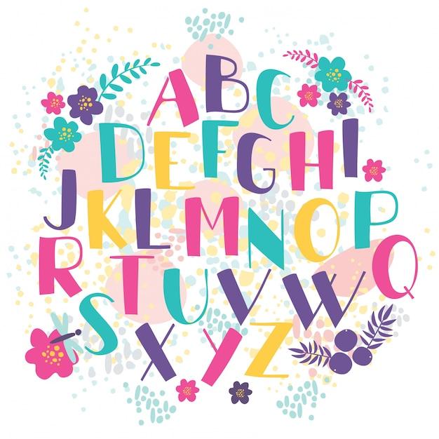 Letras dibujadas a mano vector gratuito