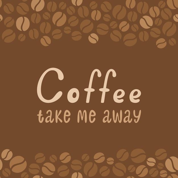 Letras de diseño de café. menú para restaurante, cafetería, bar. Vector Premium