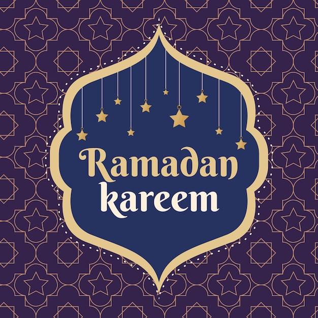 Letras de eventos de ramadán de diseño plano vector gratuito